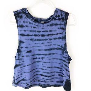 Z by Zella- Mia Tie Dye Tank Purple/black size: M